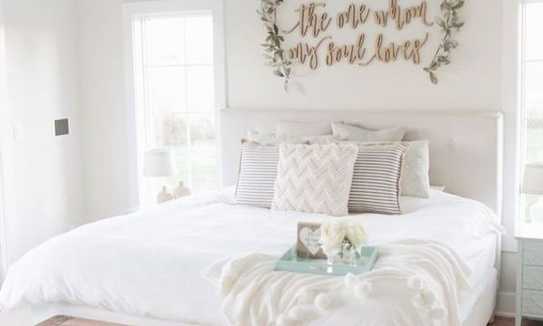 53 Farmhouse Wall Decor Ideas for bedroom (47)