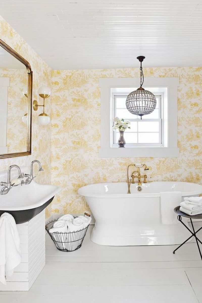 59 Best Farmhouse Wall Decor Ideas for Bathroom (14)