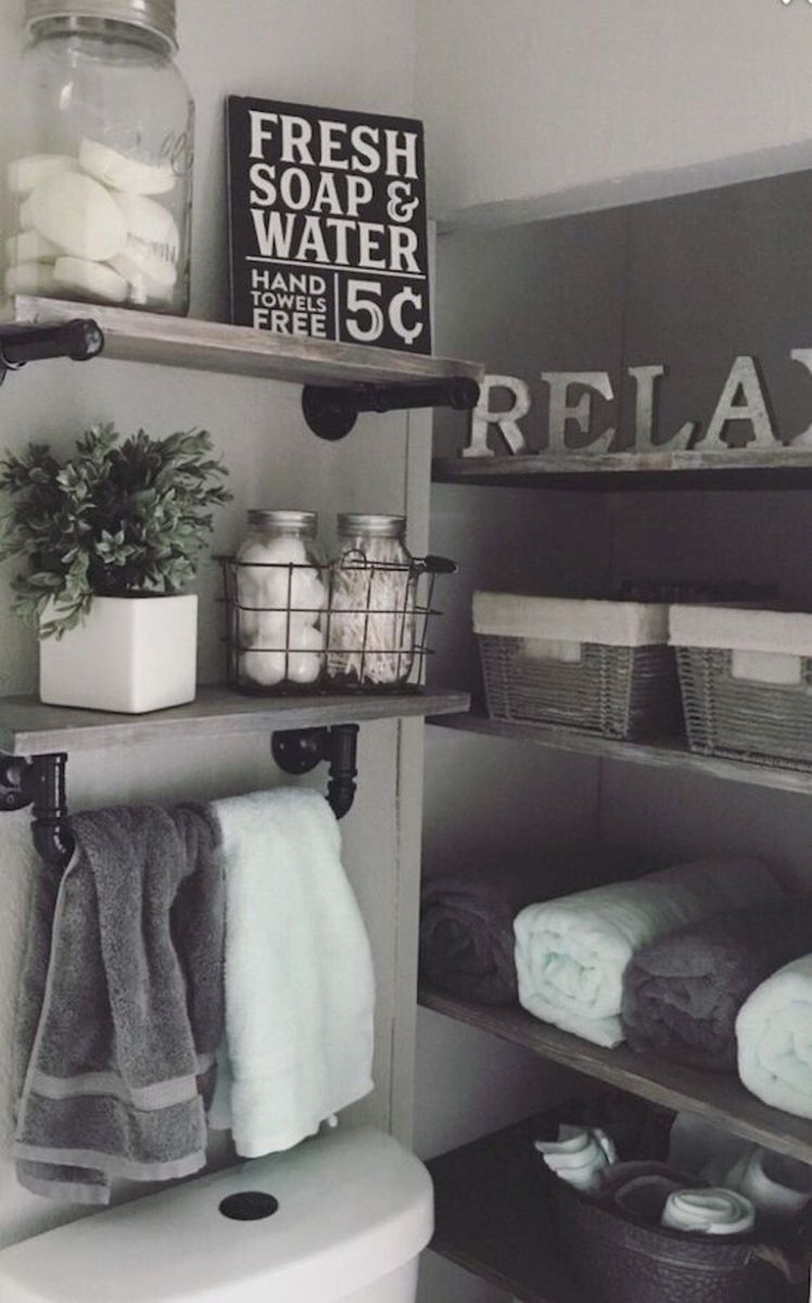 59 Best Farmhouse Wall Decor Ideas for Bathroom (24)
