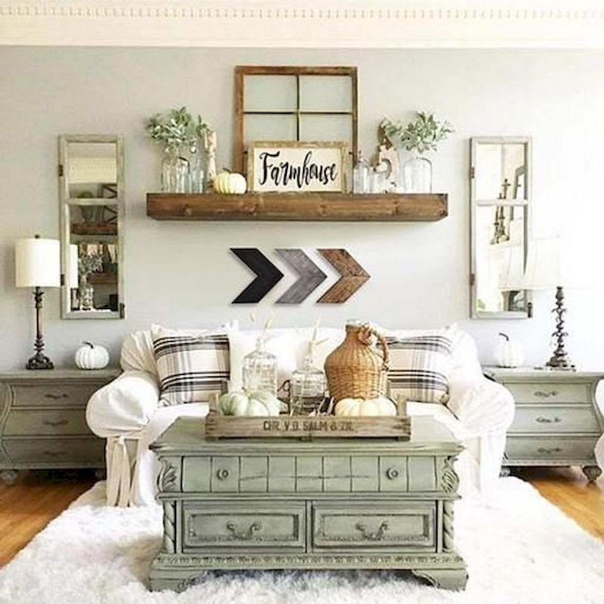 75 Best Farmhouse Wall Decor Ideas for Living Room (16)
