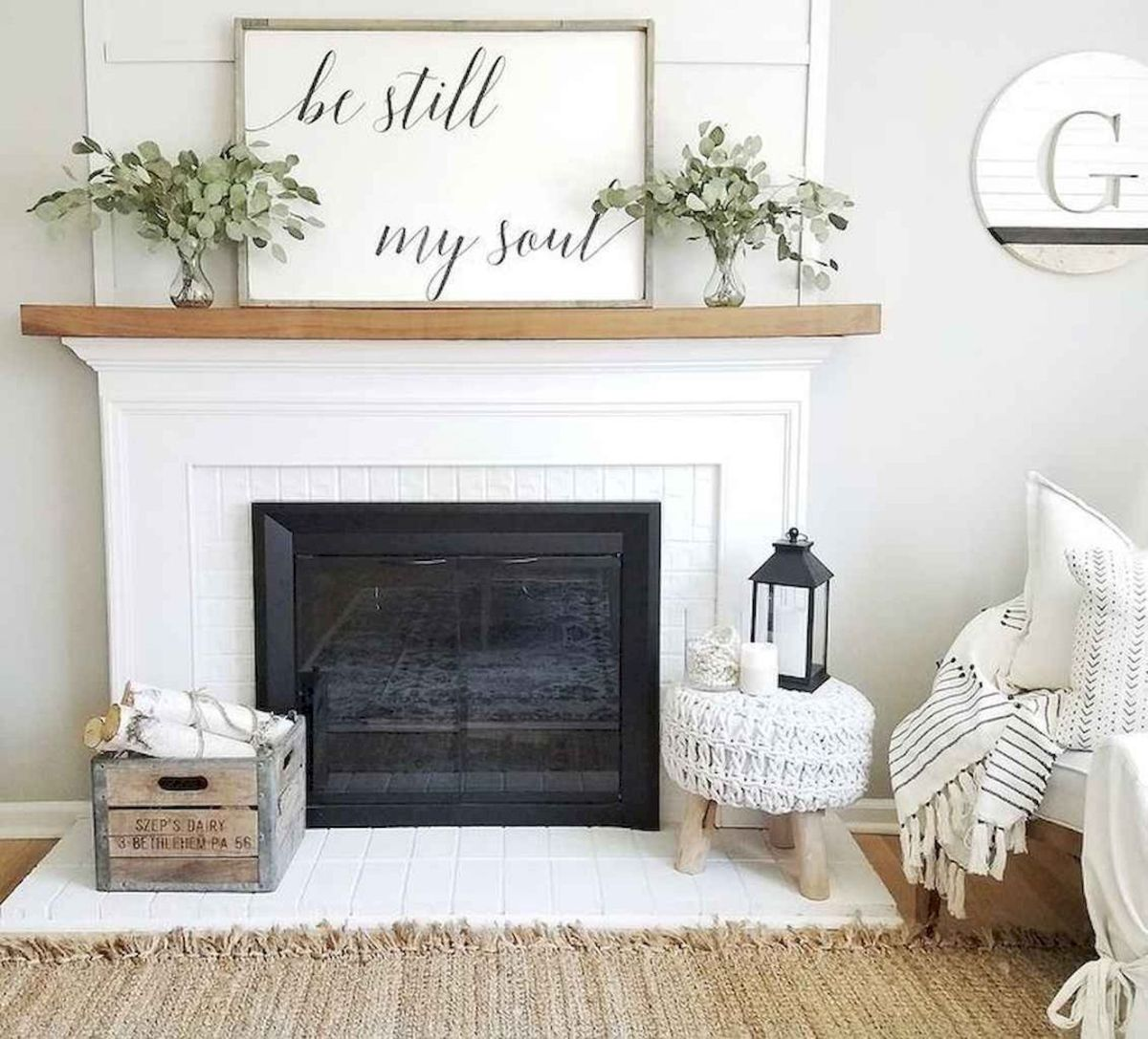 The Best Fireplace Ideas for Farmhouse (13)