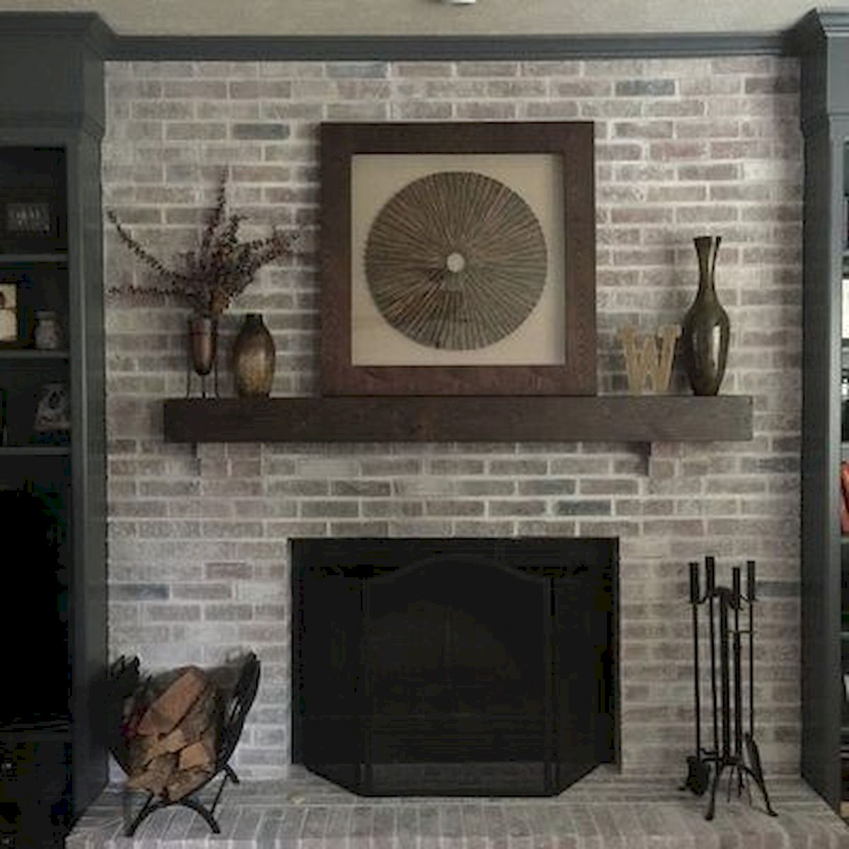The Best Fireplace Ideas for Farmhouse (27)