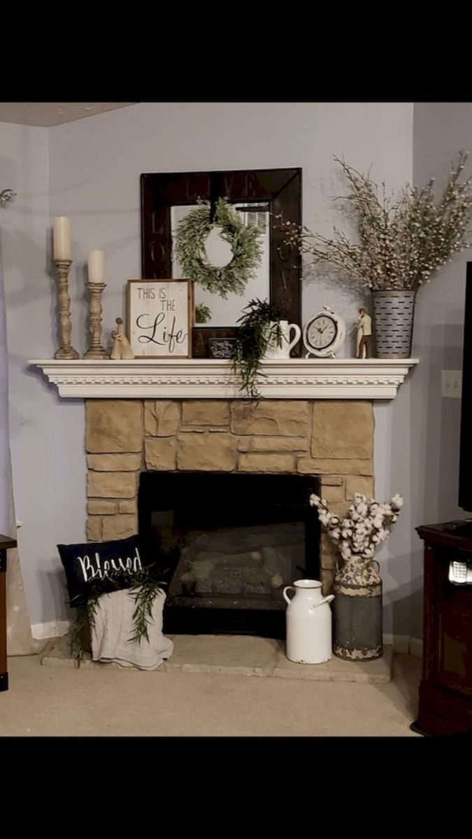 The Best Fireplace Ideas for Farmhouse (29)