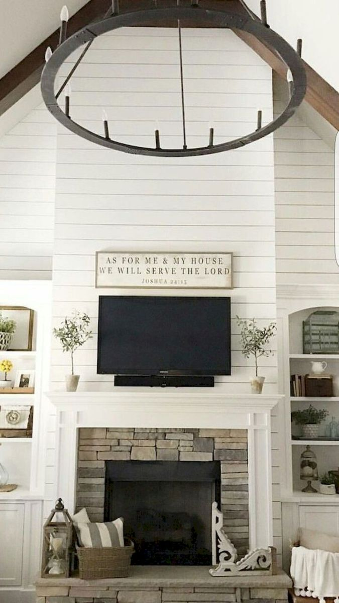 The Best Fireplace Ideas for Farmhouse (30)