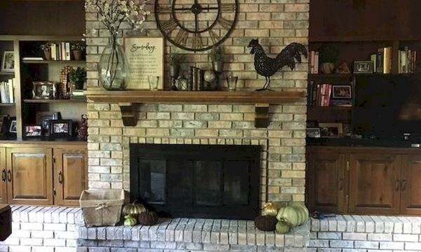 The Best Fireplace Ideas for Farmhouse (36)