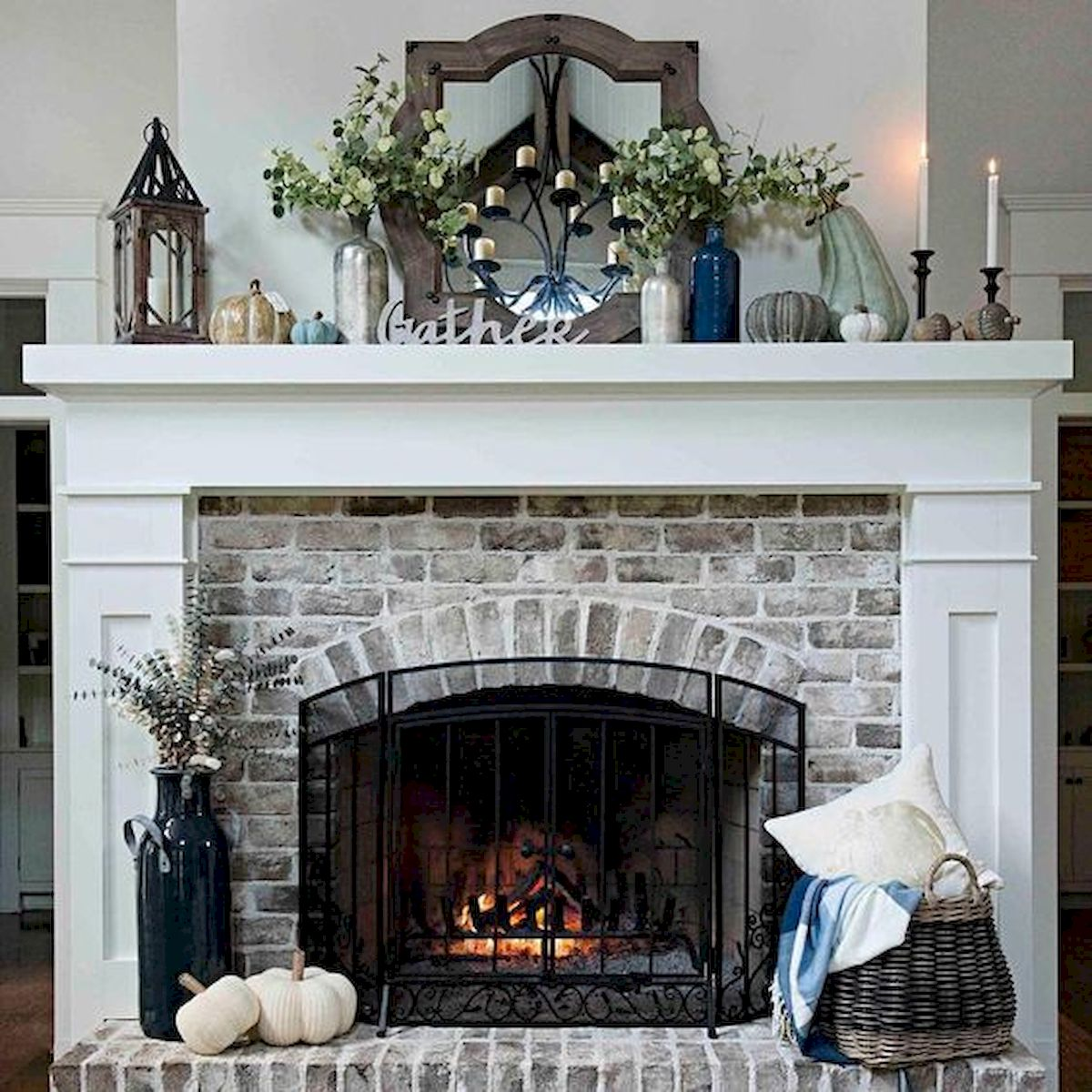 The Best Fireplace Ideas for Farmhouse (41)