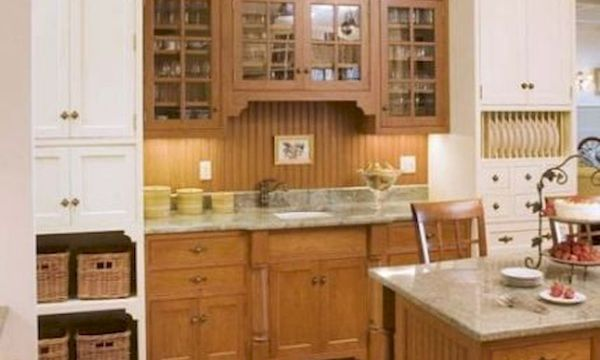 15 Fancy kitchen ideas Using a combination of brown wood (3)