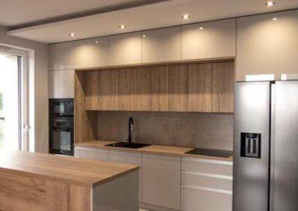 15 Fancy kitchen ideas Using a combination of brown wood (5)