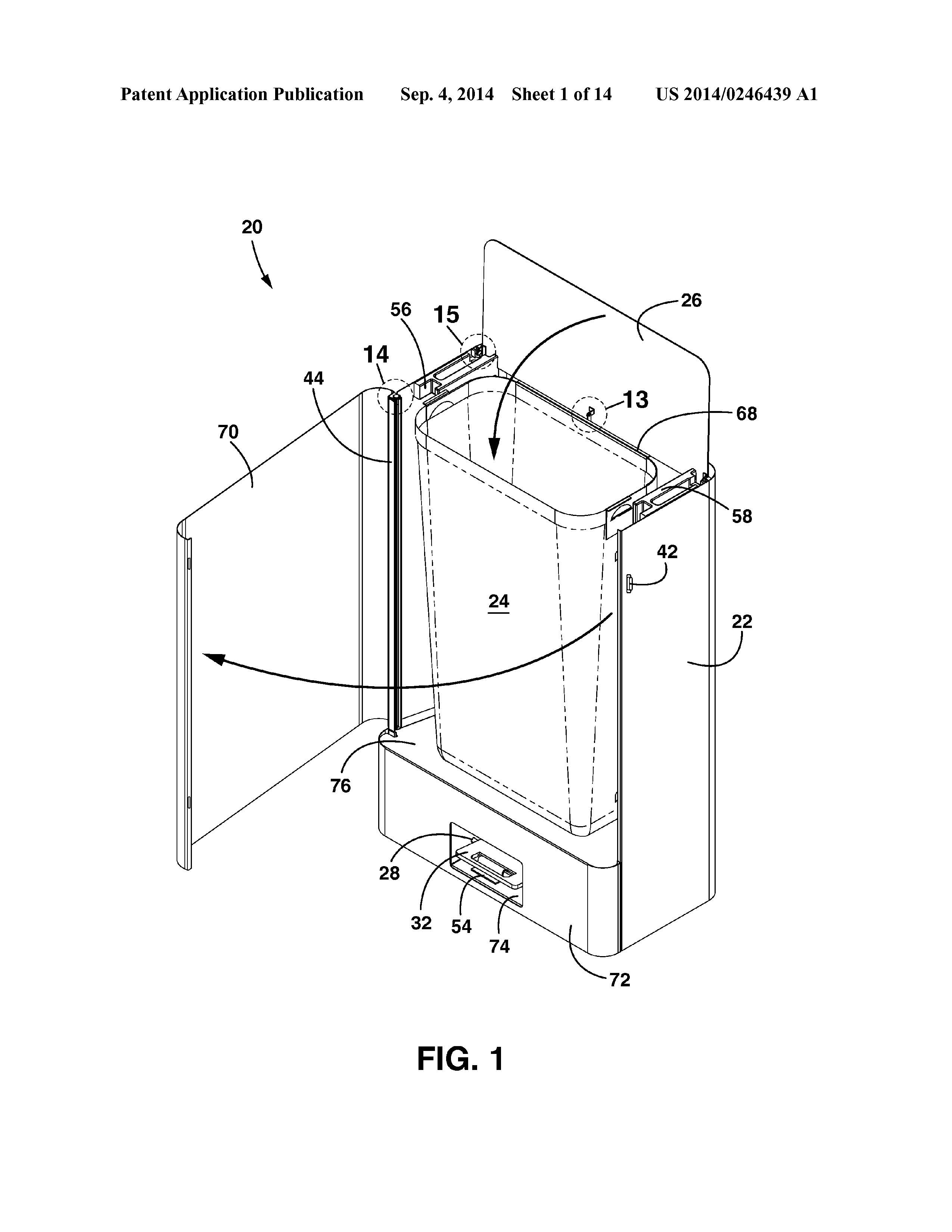 Patent Application For Front Emptying Trash Can Chicago