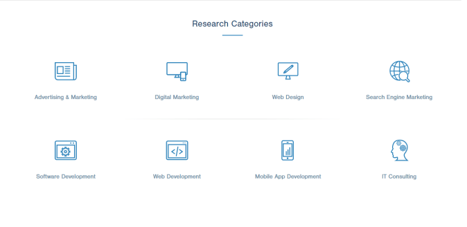 Research and reviews on leading development, design and marketing firms by www.clutch.co