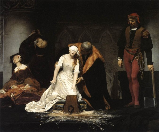 The Execution of Lady Jane Grey - 1833 by Paul Delaroche
