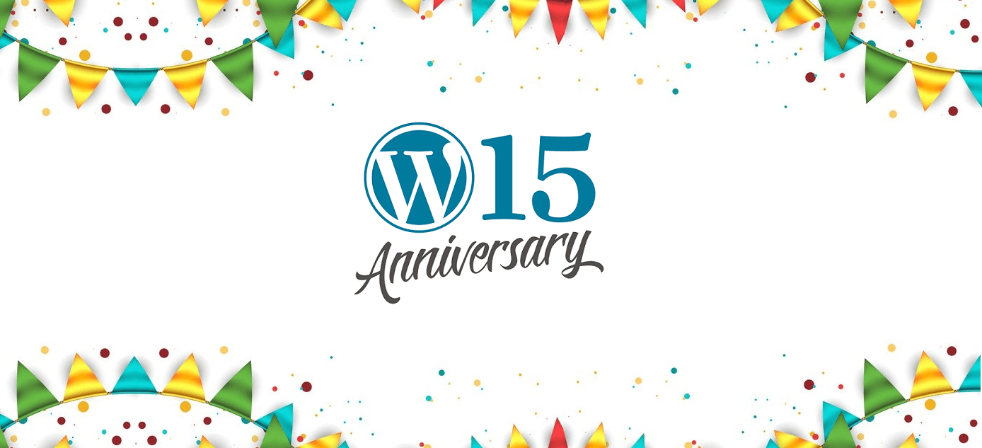 WordPress 15th Anniversary on May 27