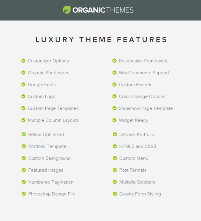 Luxury by Organic Themes