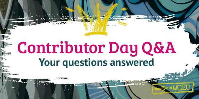 WCEU Contributor Day