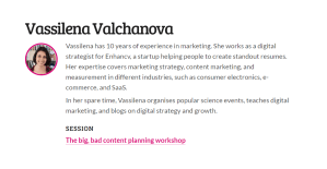 The big, bad content planning workshop by Vassilena Valchanova