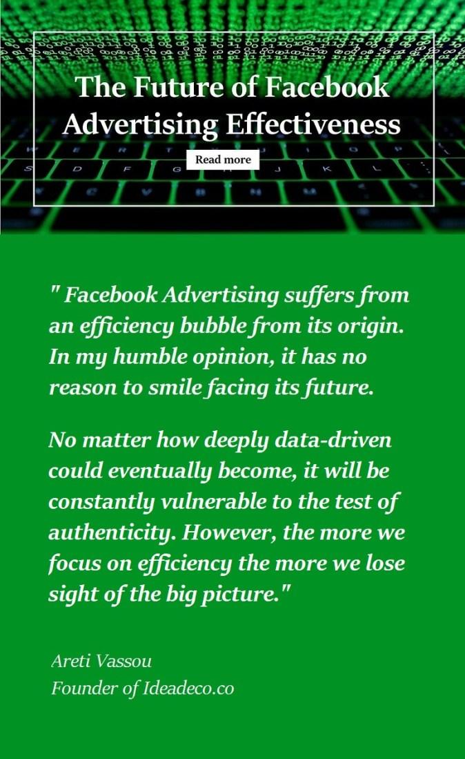 The Future of Facebook Advertising Effectiveness by Areti Vassou