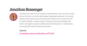 Travelling the web on the WordPress HTTP API by Jonathan Bossenger