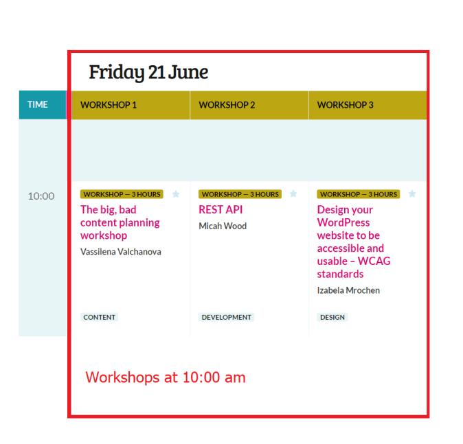 Wordcamp Europe 2019 Workshops Friday 21 at 10 am