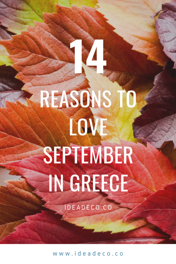 14 Reasons to love September in Greece