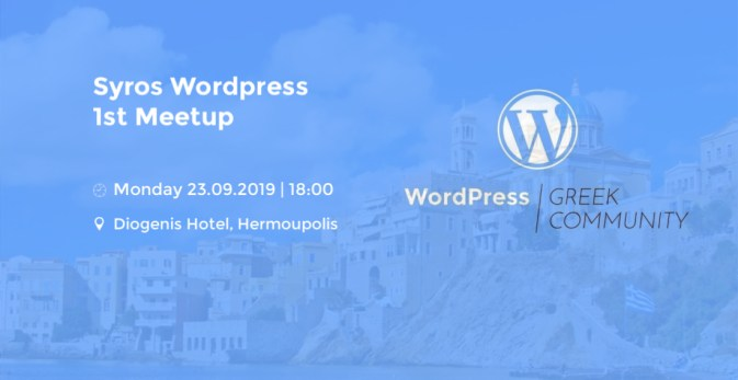 WordPress Syros 1st Meetup