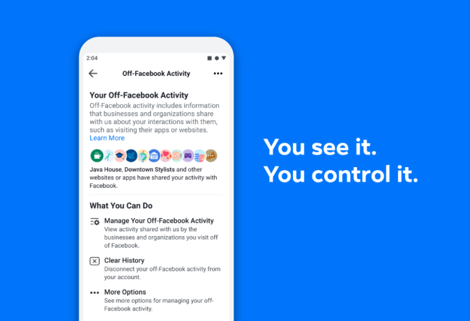 Now You Can See and Control the Data That Apps and Websites Share With Facebook