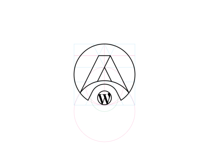 Finally, increase the stroke width to match the simplified WordPress logo