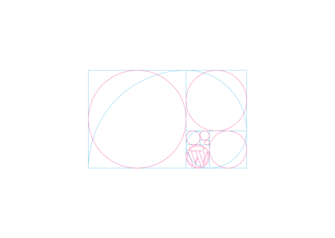 The first step was to use the Fibonacci Sequence Golden Ratio to define the proportion of circles
