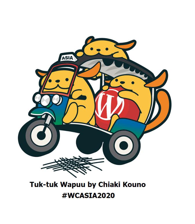 WordCamp Asia 2020 Wapuu Tuk Tuk #WCAsia
