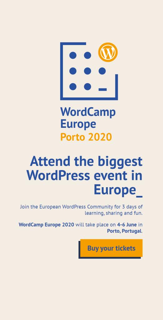 WordCamp Europe 2020 Porto 4 - 6 June