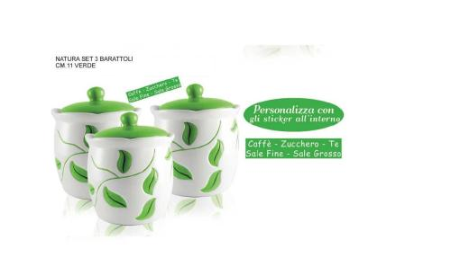 Set 3 Barattoli Natura verde ideadicasa80