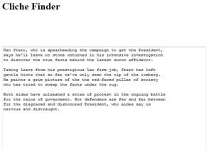 Clichefinder | best online writing app