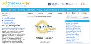 Creativity Portal's Imagination Immediate writing tool