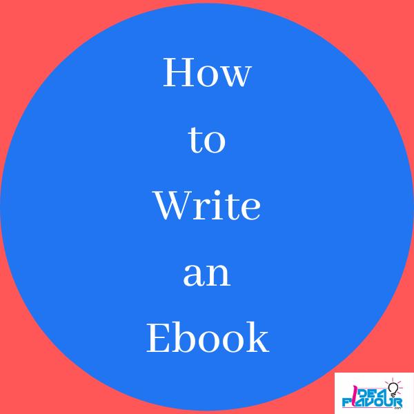 how too write an ebook