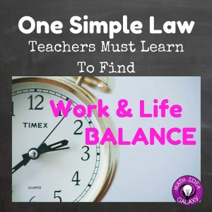 A simple law that teachers must know to improve their work life balance. How can you keep teaching from taking over your whole life? Ask Mr. Parkinson.