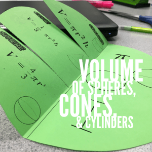 5 other ways to use foldables in the math classroom at ideagalaxyteacher.com. Volume of Spheres, Cones, &Cylinders Foldable Graphic Organizer