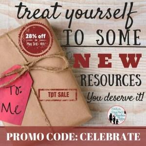 Site wide sale at TPT to celebrate teachers on Teacher Appreciation Day! Promo Code CELEBRATE.