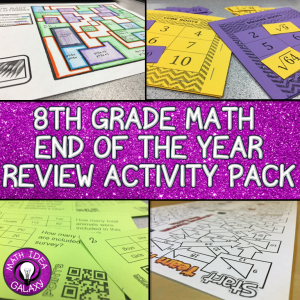 Collection of engaging, interactive, and fun math activities that will get students practicing math with a smile. Lots of fun ideas to close out the school year.