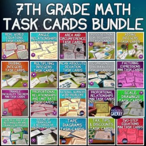 Collection of task cards for 7th grade math.