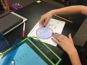 Teaching area and circumference of a circle through student exploration in this discovery lab/ inquiry activity. Great way to build conceptual understanding!