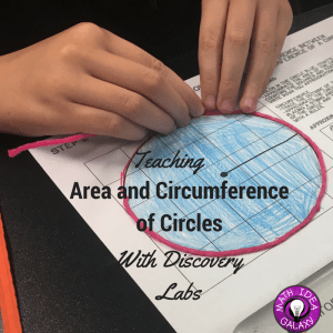 Teaching area and circumference of a circle with discovery labs / inquiry.