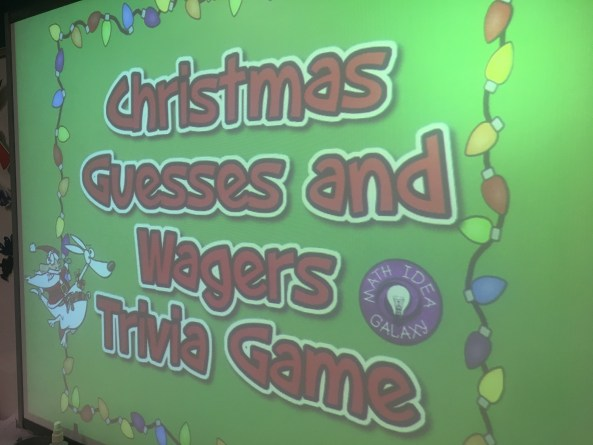 This Christmas themed trivia game is fun for the whole class. A fun way to reinforce estimation & reasonableness. Perfect for the week before Christmas break.