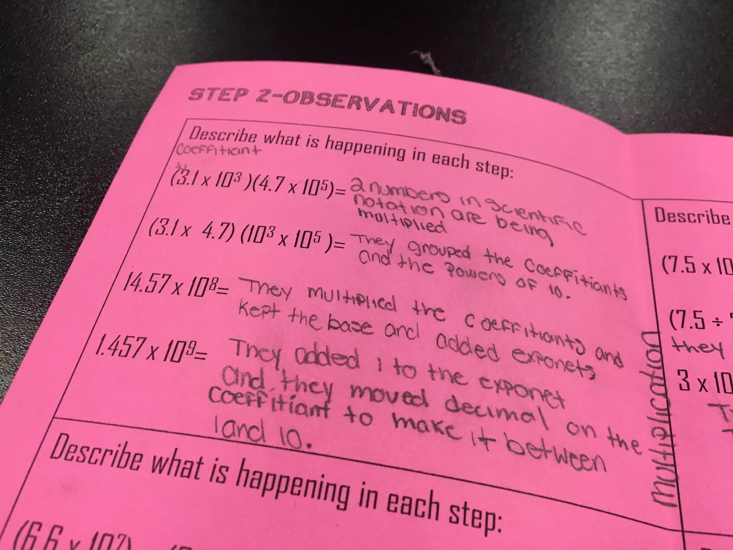 Teaching Operations With Scientific Notation Through