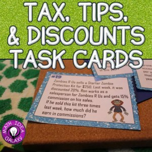 Read a blog post about using I can statements to teach tax, tip, discounts and interest.