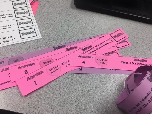 Read this blog post about adding Valentine's Day to a middle school math classroom.