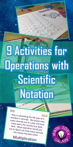 This blog post explores some activities for practicing operations with scientific notation.