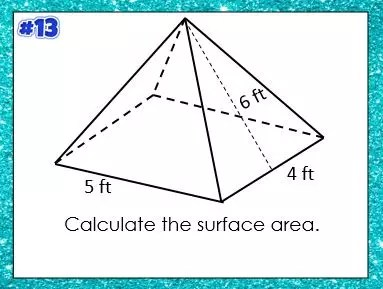 This is a blog post that explains how to teach surface area with I can statements.