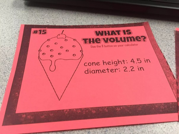 Read this blog post to teach volume of cylinders, cones, and spheres like a star.