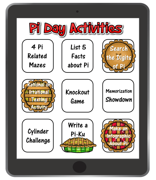 Read this blog post about easy pi day activity ideas.