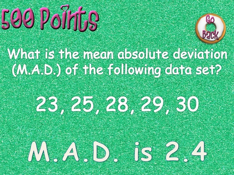Read this blog post for some engaging ways to practice mean, absolute value, and mean absolute deviation with little to no prep.