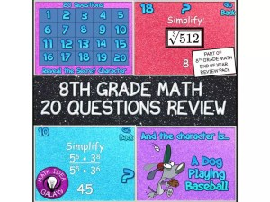 This is a blog post about last week of school activities in the math classroom.
